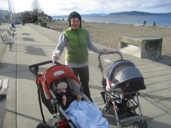 kristine and kids on alki