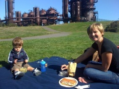 henry and mom at gasworks