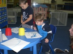 henry art session at preschool