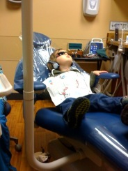 henry zoning out in dentist chair