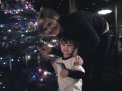 kristine and henry tree decorating