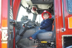 henry at the wheel of engine 9