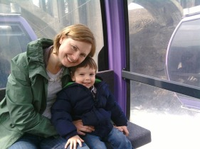 kristine and henry in gondola over spokane falls