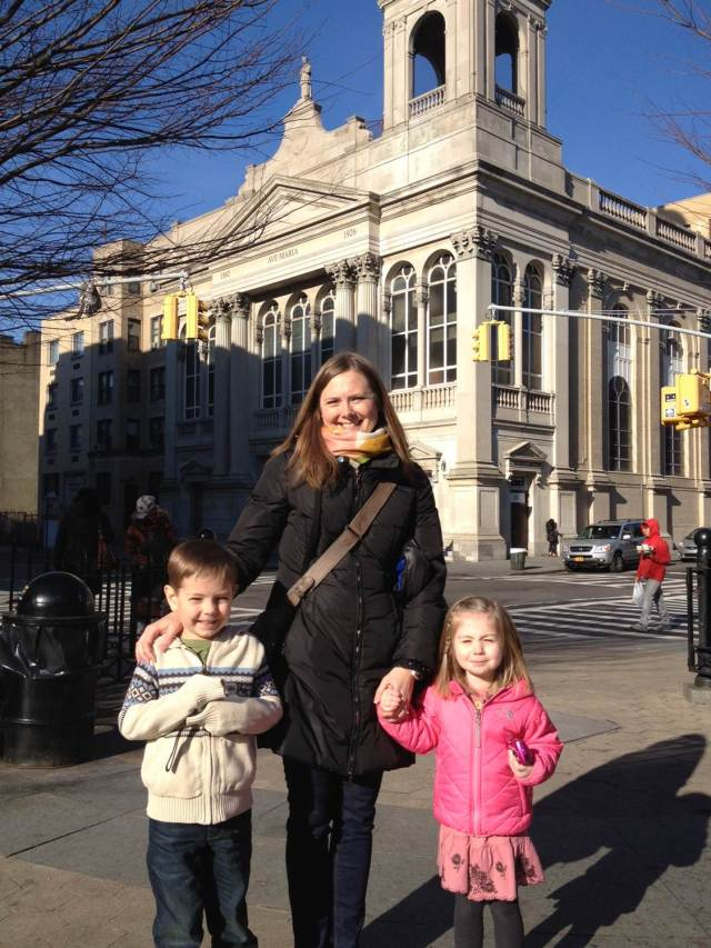 Fry Family Trio in NYC Groundhog Day 2013